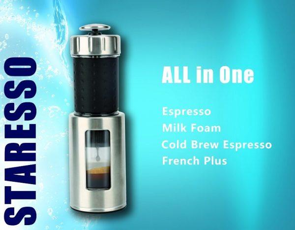 Staresso Coffee Maker with Espresso, Cappuccino and Quick Cold Brew